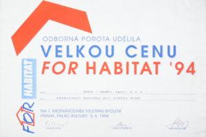 ocenění For Habitat